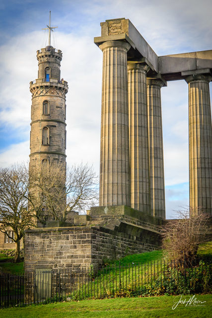 Calton Hill, Edinbugh, Scotland, National Monument, Nelson Monument,