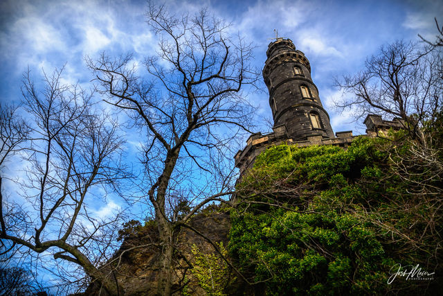 Edinbugh, Scotland, tower, Nelson Monument, Calton Hill,