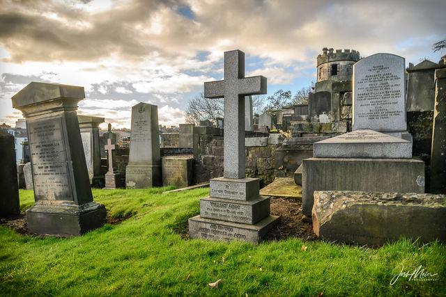 Cemetery, Edinburgh, Scotland, Calton, Burial Ground,
