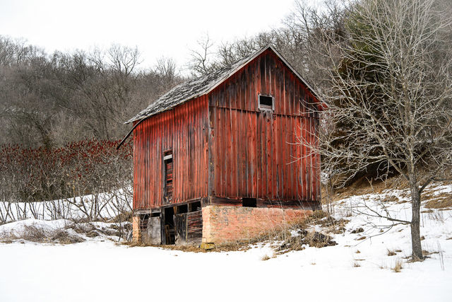 Barn, Iowa, Red, Yellow River State Forest, rustic, Allamakee County,