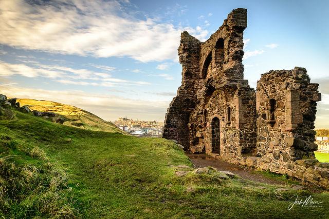 Edinburgh, Scotland, St. Anthony's Chapel, ruins