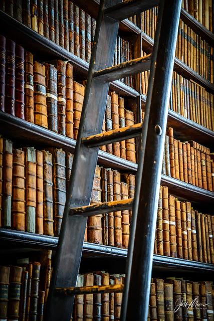 Dublin, Ireland, Trinity College, Library, Long Room, vertical
