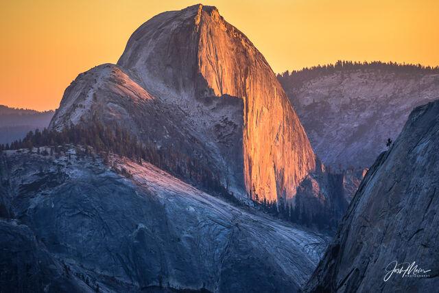 California, Yosemite National Park, Half Dome, Sierra Nevada, Yosemite, Sunset