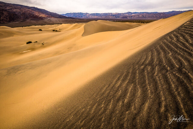 Wind blown ripples in the sand at Death Valley National Park, California.
