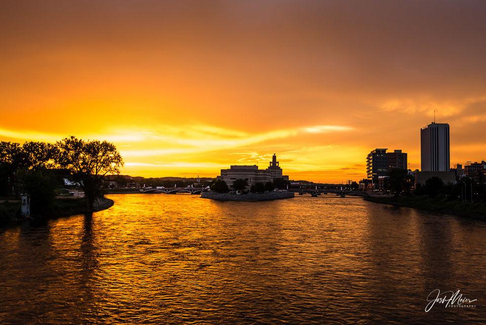 Cedar River Sunset print