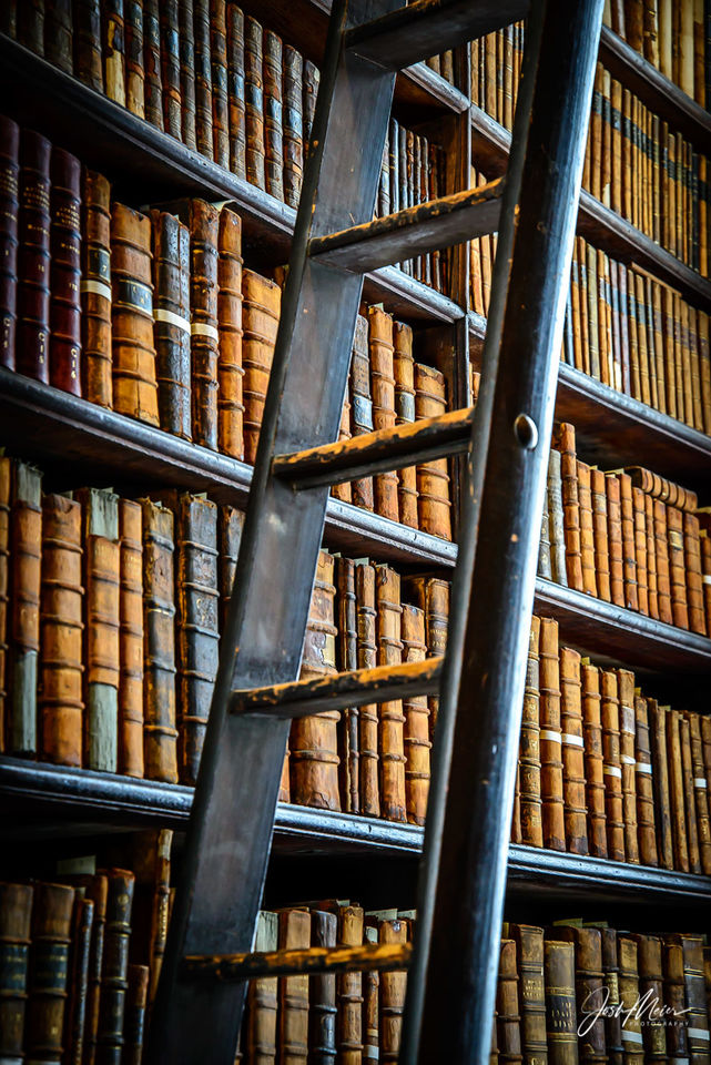 Trinity College Library Stacks print