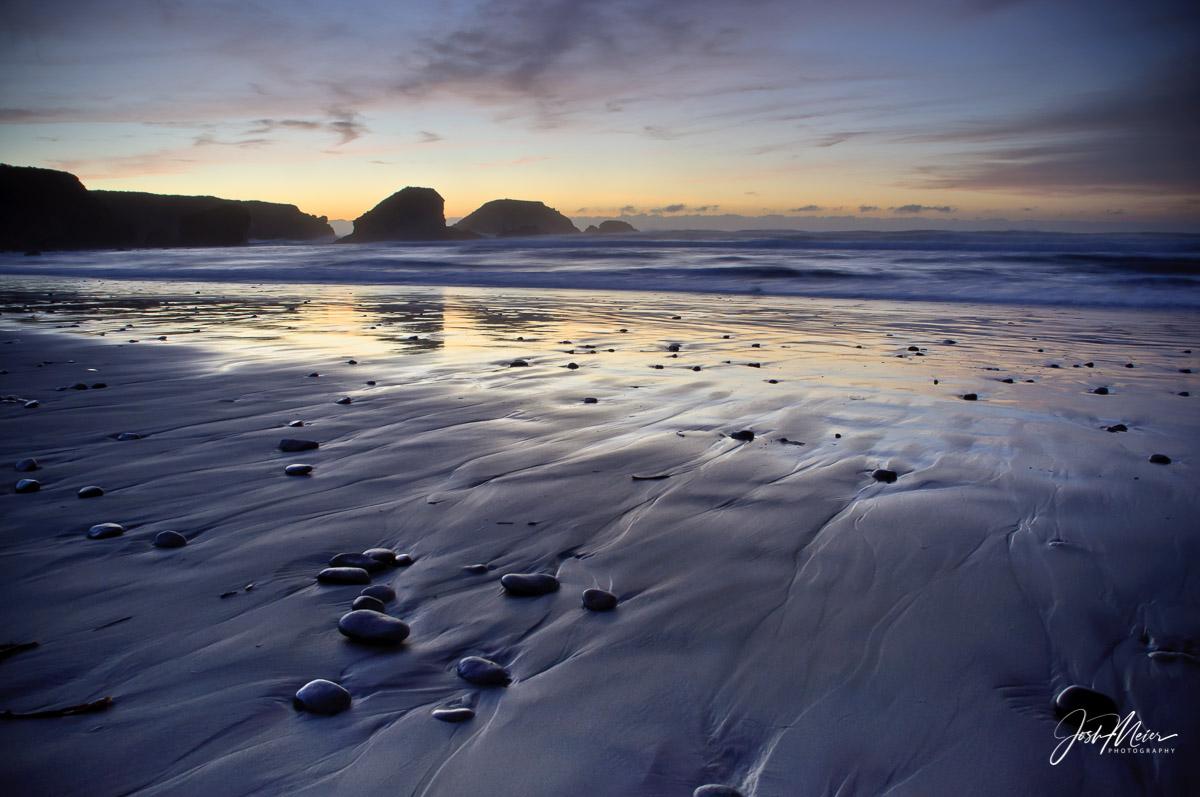 California, Julia Pfeiffer Burns State Park, Big Sur, Beach, Purple Sand, Twilight, sunset, Coast, , photo