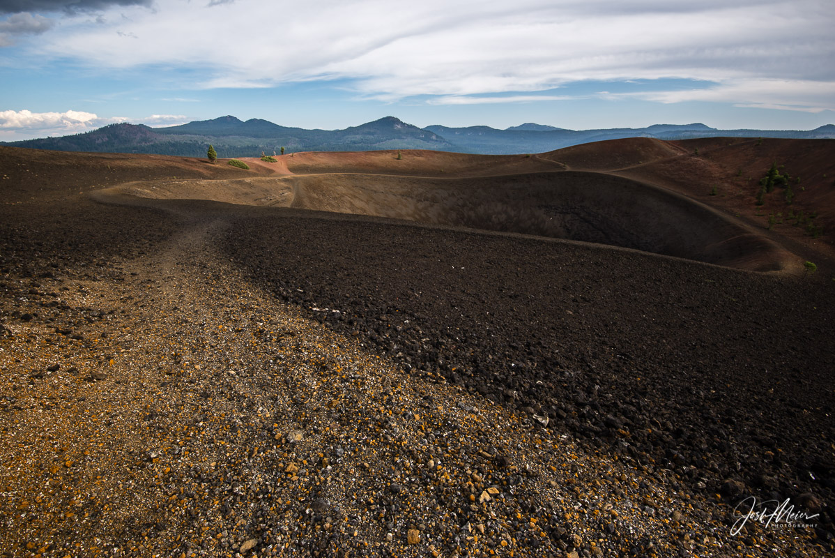 Summit Crater of Cinder Cone in Lassen Volcanic National Park.