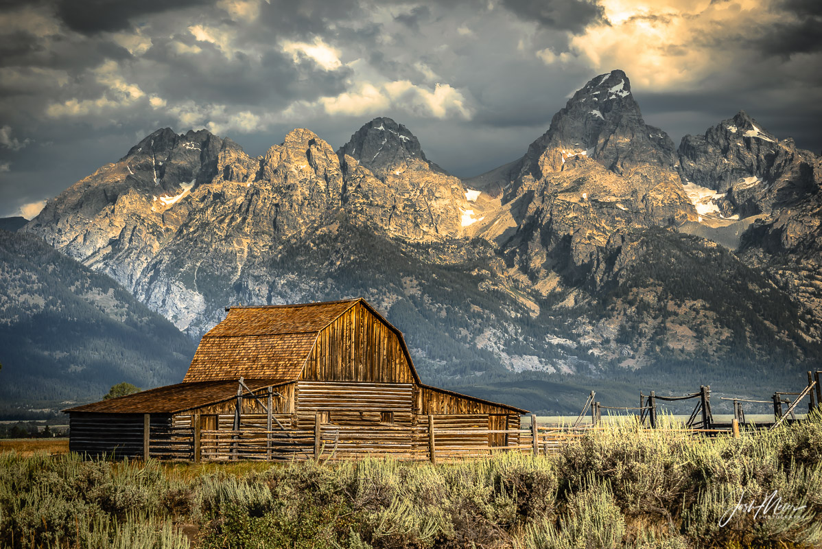 John Moulton barn, Grand Teton National Park, Mormon Row, Wyoming, TA Moulton, farmstead, , photo