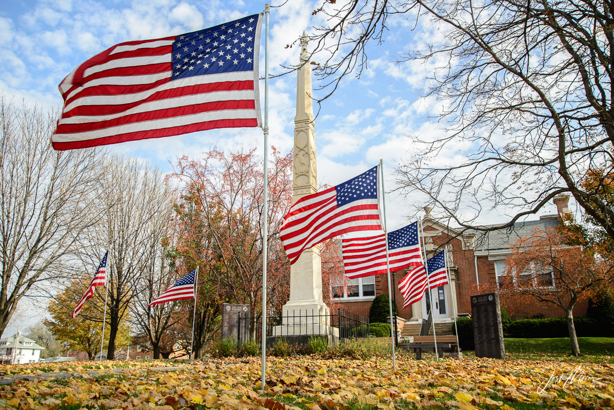 American flags on the Library Square in honor ofVeterans Day in Tipton, Iowa. One of our proudest community practices is...