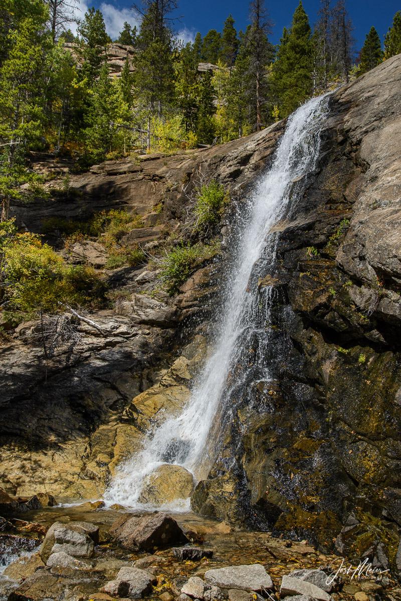 Bridal Veil Falls in Colorado's Rocky Mountain National Park.