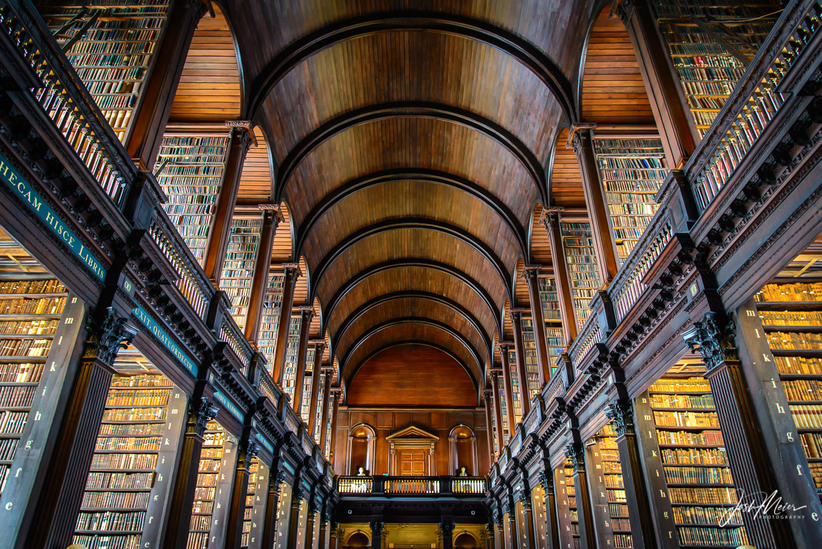 The Long Room, in Trinity College Library of Dublin, Ireland.