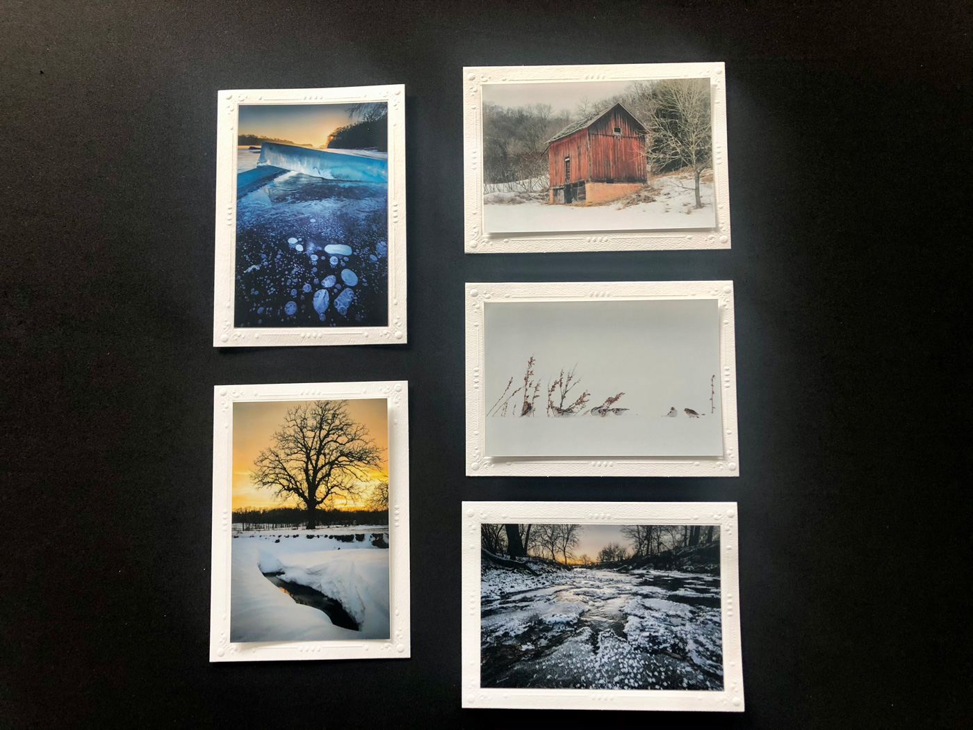 Limited Time Special: 5 Pack Note Cards- Iowa Winter