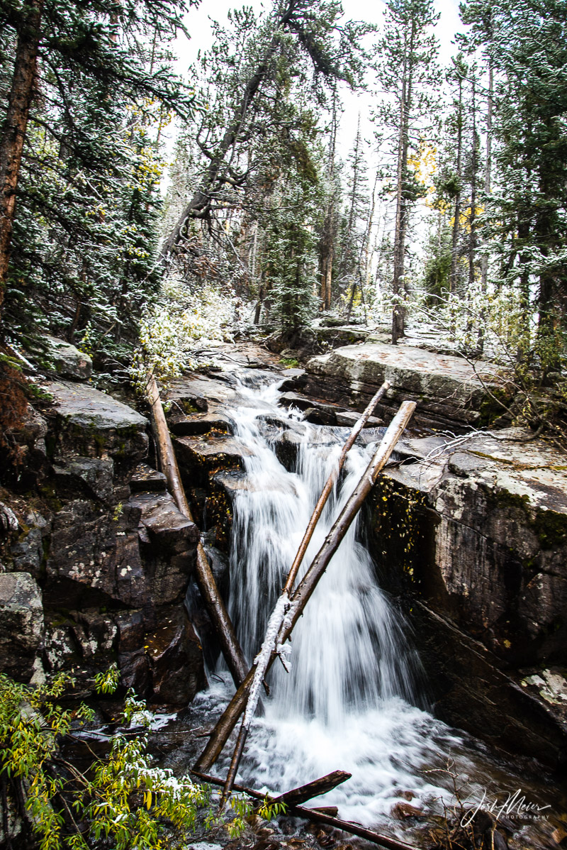 Cascading stream in the High Uintas Wilderness. Wasatch National Forest, Utah.